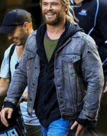Thor Ragnarok Chris Hemsworth Denim Jacket