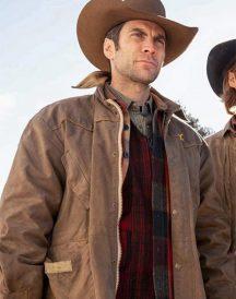 Wes Bentley Yellowstone Brown Cotton Jacket