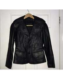 Women's Fionte Black Leather Jacket