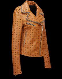 Women's Print Rider Leather Jacket