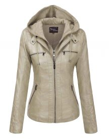 Women Removable Leather Jacket