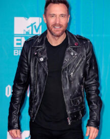 French DJ David Guetta Leather Jacket