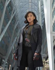 Meagan Good Minority Report Dash TV Series Leather Coat