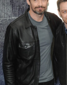 Men's Black Casual Wearing New X Men Hugh Jackman Jacket