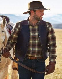 Men's Classic Carry Pockets Leather Vest