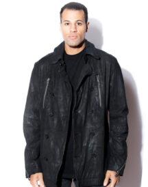 Men's Classic Lambskin Peacoat Jacket