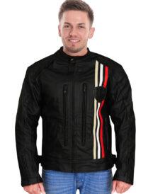 Men's Jaunty Bikers Black Leather Jacket