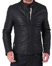 Men's Lambskin Leather Motorcycle Jacket