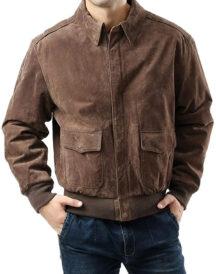 Men Air Force A-2 Flight Leather Jacket