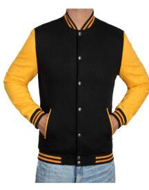 Men Classic Baseball Varsity Jacket