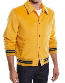 Men Classic fit Wool Varsity Jacket