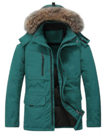 Men Fur Duck Down Winter Jacket