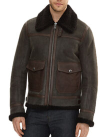 Men Shearling Leather Jacket