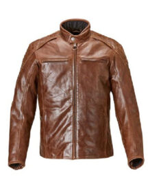 Men Stylish Outfit Brown Motorcycle Jacket
