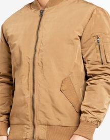 Men Varsity Khaki Jacket