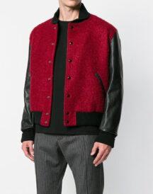 Men Varsity Wool Jacket