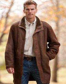 Men Winter Leather Coat