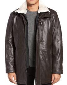 Men Winter Leather Fur Coat
