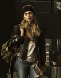 Roadies Kelly Ann Brown Leather Jacket
