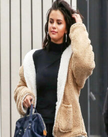 Selena Gomez Faux Fur Jacket