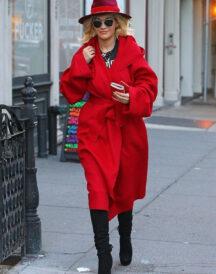 Singer Rita Ora Classic Coat