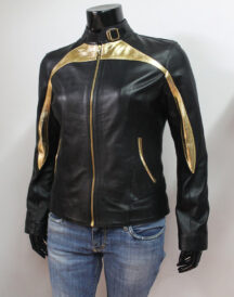 Stylish Golden Design leather Jacket