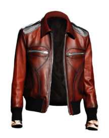 Stylish Look Faux Brown Leather Jacket For Men's